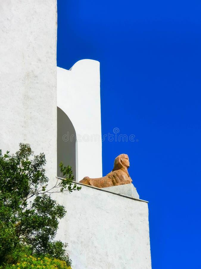 Anacapri, Italien, am 4. Mai 2014: Das Architekturdetail von Landhaus Sans Michele stockbilder
