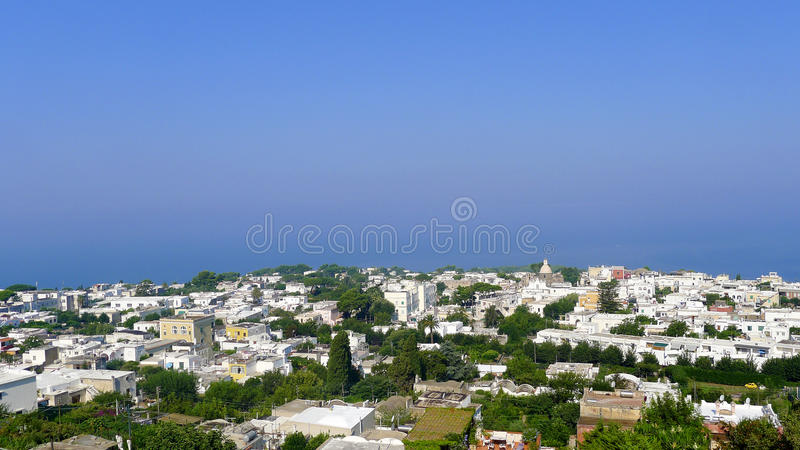 anacapri view from the chairlift capri italy stock photo image