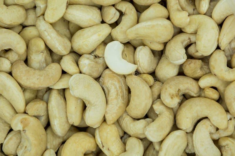 Anacardes r?tis Texture des noix Vue sup?rieure image stock