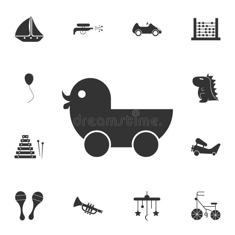 anadón en icono de las ruedas Sistema detallado del icono de los juguetes Diseño gráfico superior Uno de los iconos de la colecci ilustración del vector