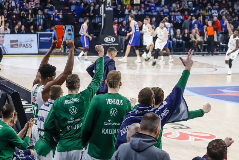 Anadolu Efes - Zalgiris Kaunas / 2019-20 EuroLeague Round 24 Game royalty free stock images