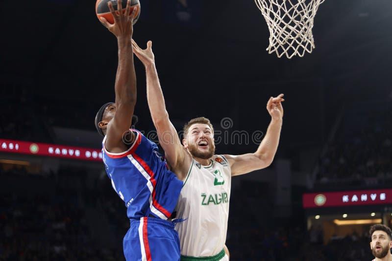 Anadolu Efes - Zalgiris Kaunas / 2019-20 EuroLeague Round 24 Game royalty free stock photography