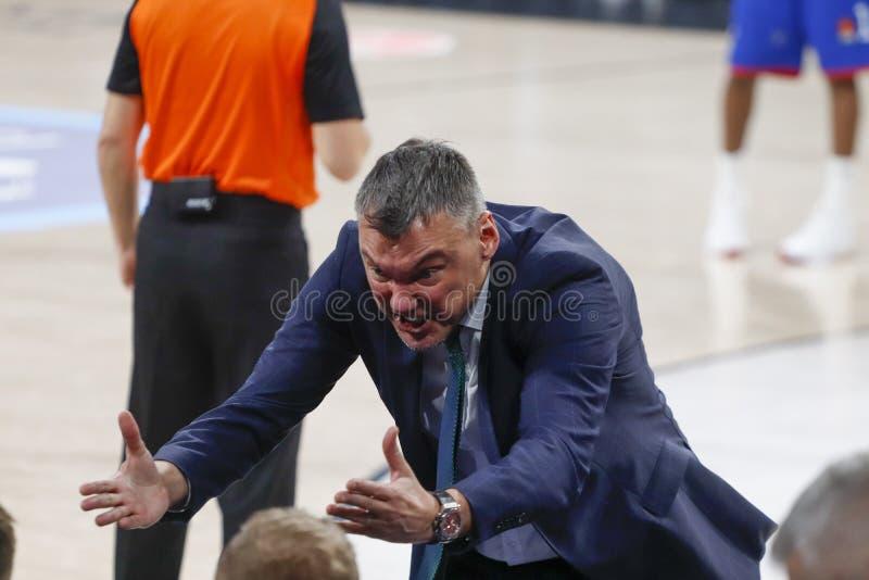 Anadolu Efes - Zalgiris Kaunas / 2019-20 EuroLeague Round 24 Game stock images