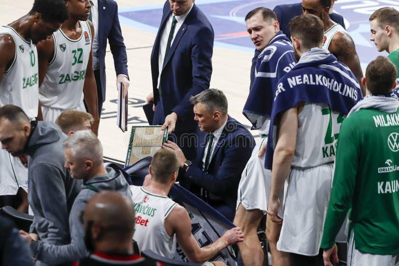 Anadolu Efes - Zalgiris Kaunas / 2019-20 EuroLeague Round 24 Game stock image
