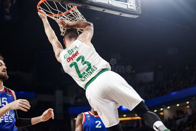 Anadolu Efes - Zalgiris Kaunas / 2019-20 EuroLeague Round 24 Game royalty free stock photo
