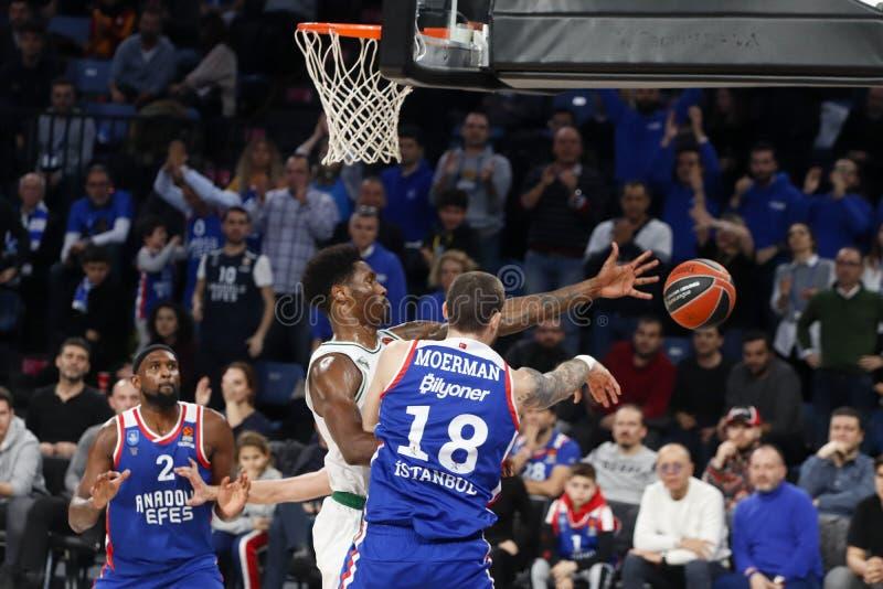 Anadolu Efes - Zalgiris Kaunas / 2019-20 EuroLeague Round 24 Game stock photo