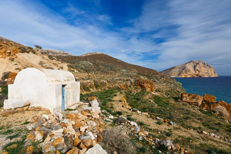 Anafi-Insel stockbild
