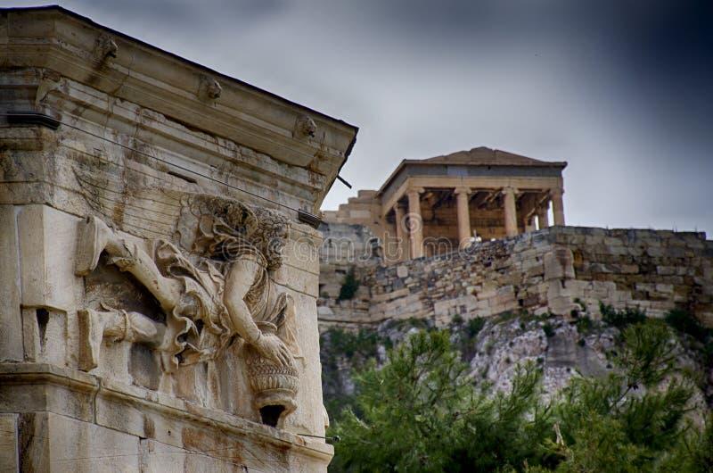 Anafiotika a Atene immagini stock