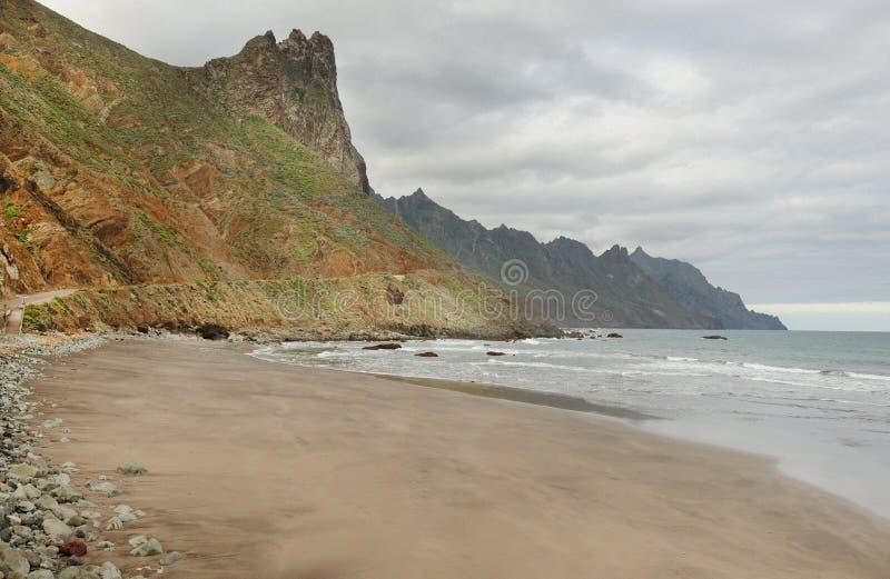 Anaga山在特内里费岛 免版税图库摄影