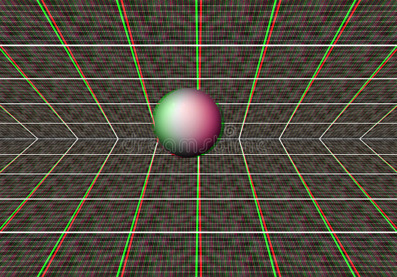 Anaglyph. An illustration of a anaglyph 3d image stock illustration