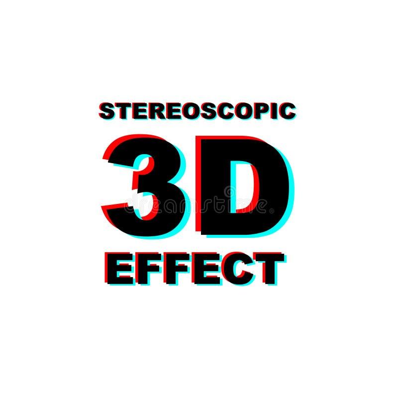 Download Anaglyph 3D tekst vector illustratie. Illustratie bestaande uit fantasie - 107709001