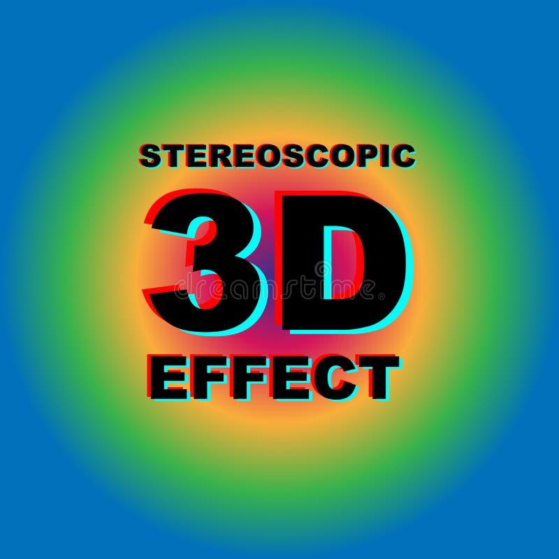 Download Anaglyph 3D Tekst Met Kleurrijke Achtergrond Vector Illustratie - Illustratie bestaande uit illusie, krankzinnig: 107708945