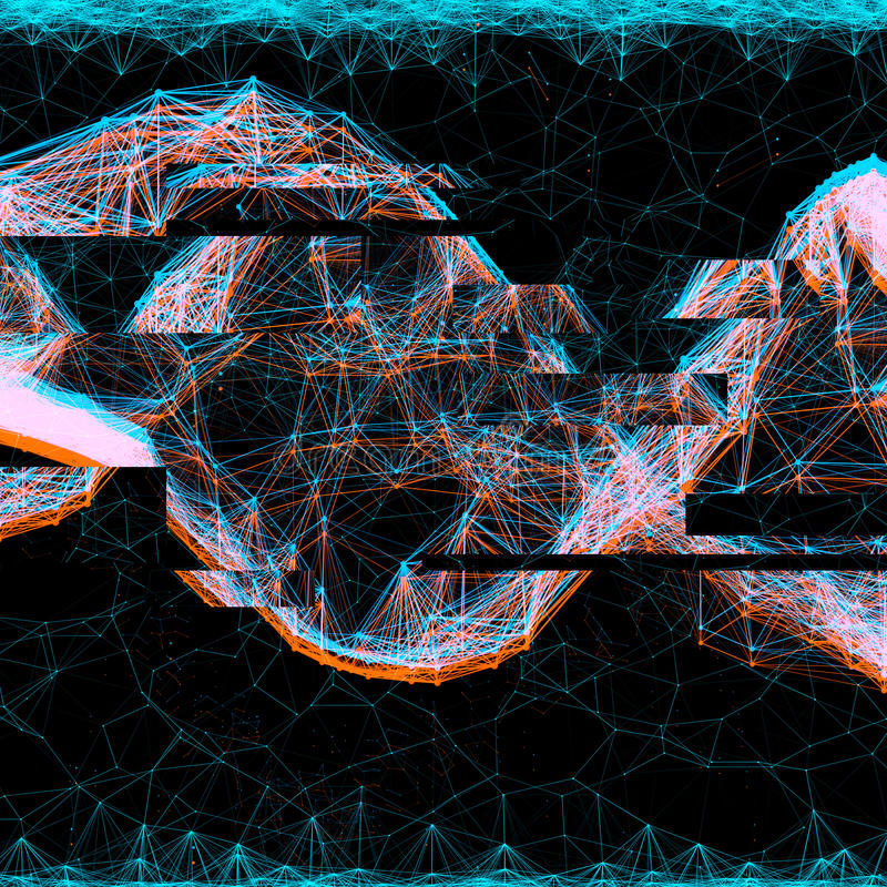 Anaglyph glitch effect hologram. Creative anaglyph glitch effect for images. illustration vector illustration