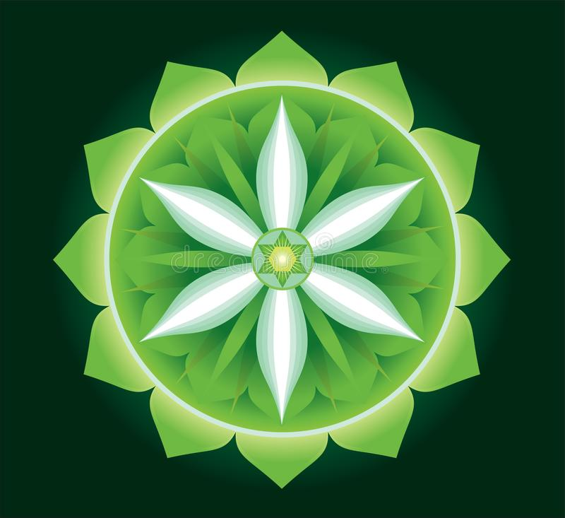 Anahata -the center of love and healing vector illustration