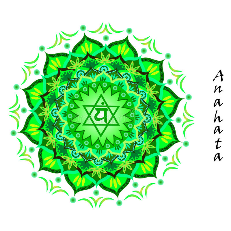 Anahata-chakra stockfoto