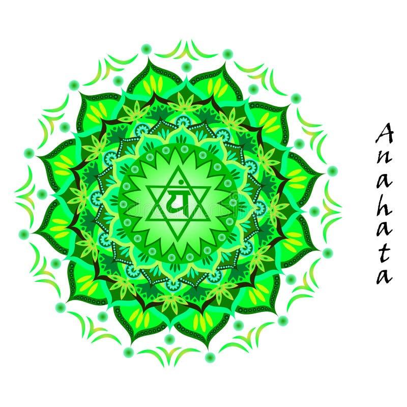 Anahata chakra stock illustration