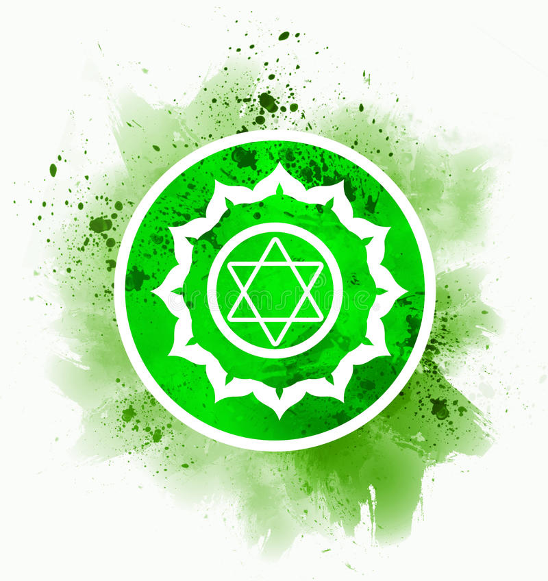 Anahata chakra symbol stock illustration