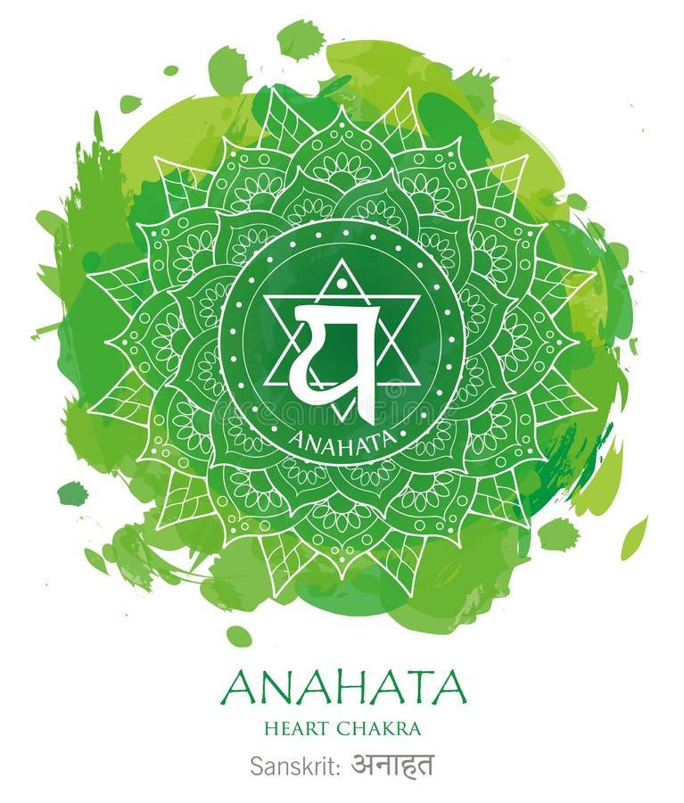 Anahata chakra vector stock photo