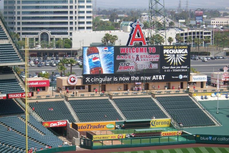 anaheim anioła Angeles los tablica wyników stadium zdjęcie royalty free