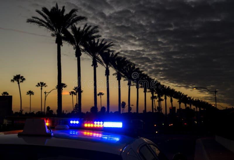 Anaheim bij schemer stock foto