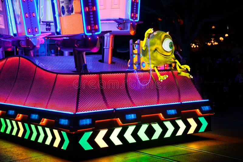 Disneyland`s Paint the Night Parade royalty free stock images