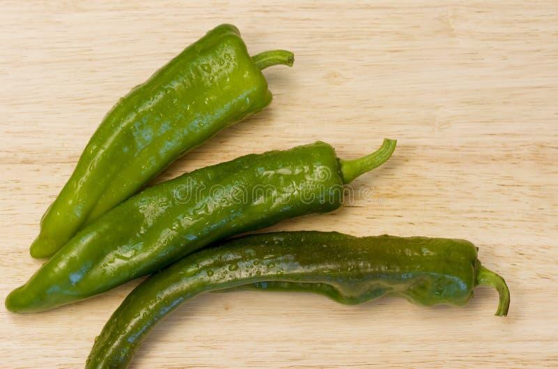 Anaheim Chilis stock afbeelding