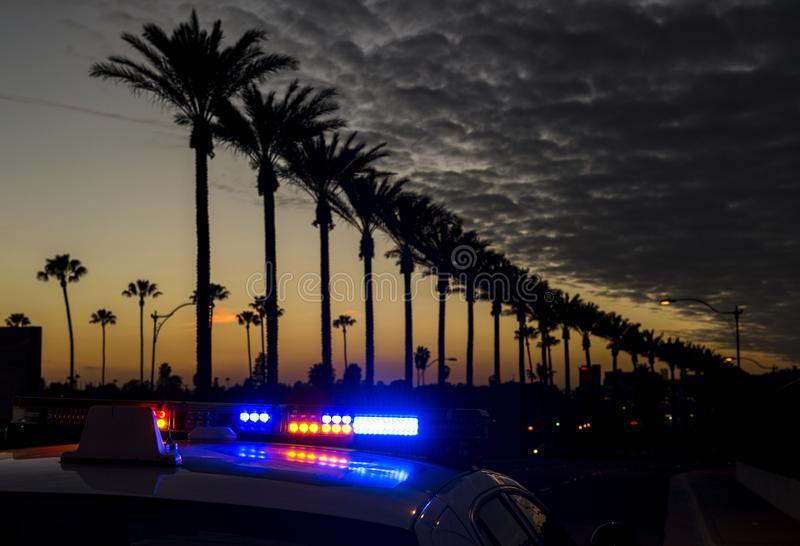 Download Anaheim at dusk stock photo. Image of police, silhouette - 37136360