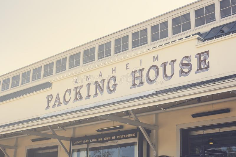 Anaheim packinghousetecken royaltyfri fotografi