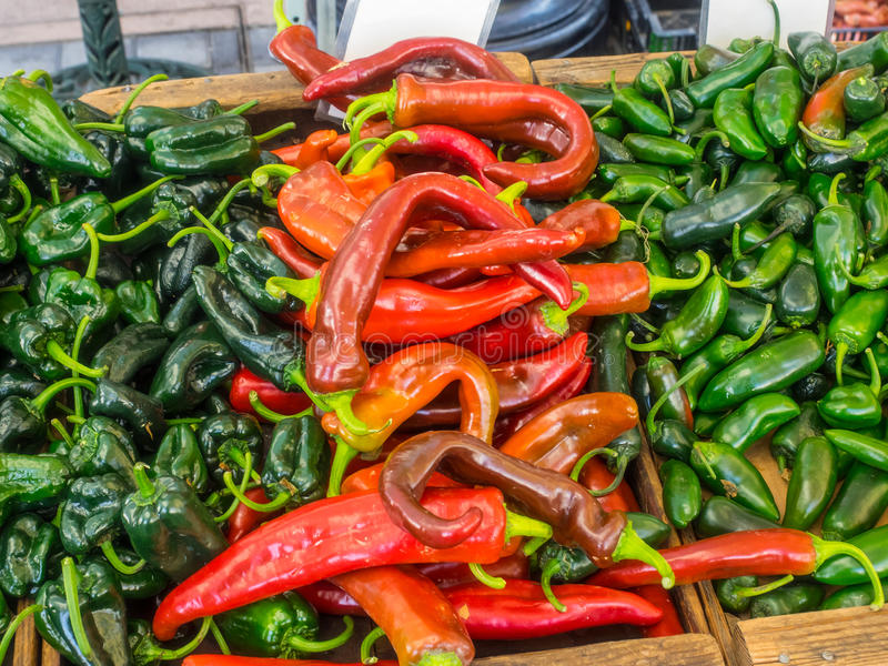 Anaheim peppers stock photos