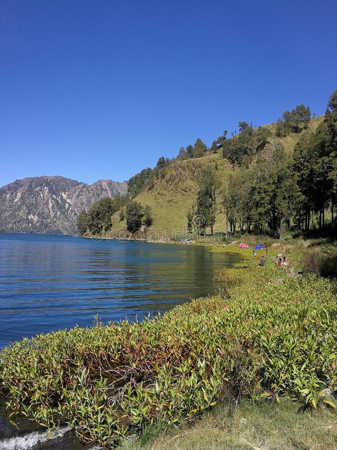 anak do segara do lago fotografia de stock royalty free