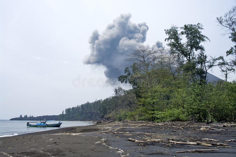 Anak Krakatau, Indonesia royalty free stock photo
