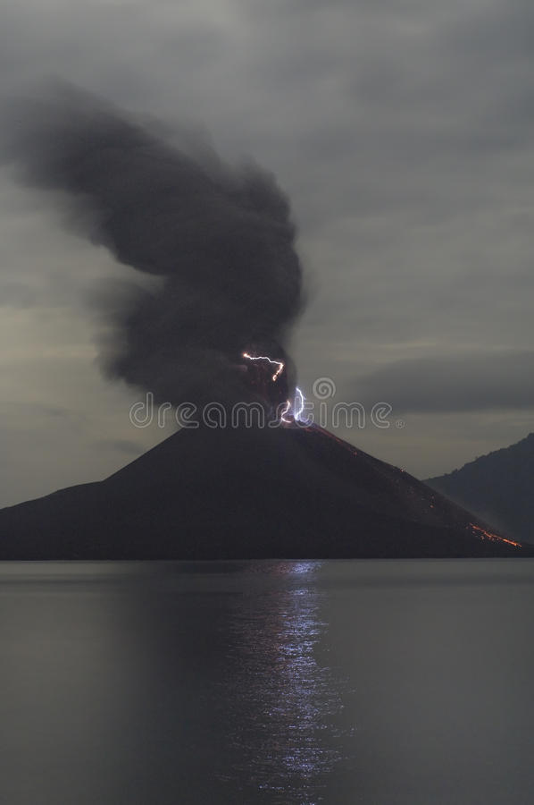 Anak Krakatau, Indonesia royalty free stock images