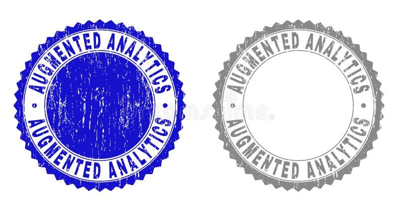 A ANALÍTICA AUMENTADA Textured riscou selos do selo ilustração royalty free