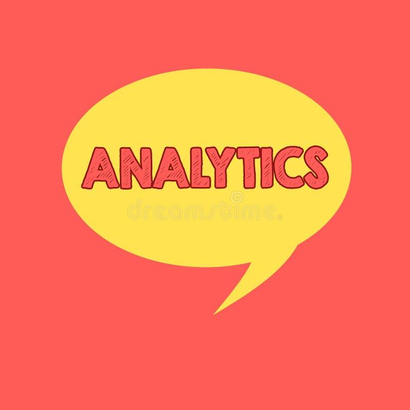 Analítica da escrita do texto da escrita Análise computacional sistemática do significado do conceito de estatísticas dos dados o ilustração royalty free