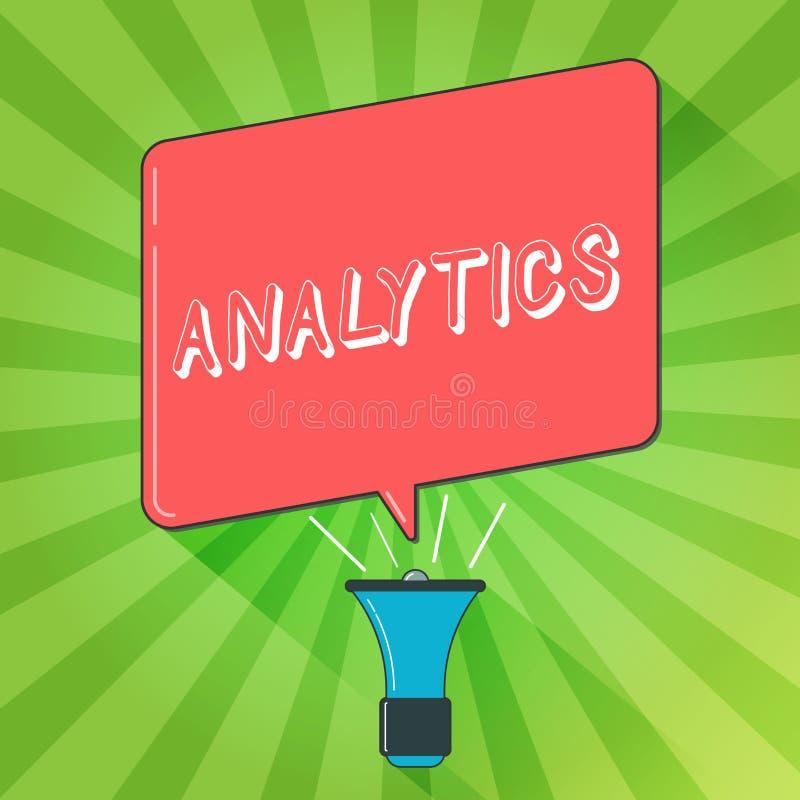 Analítica da escrita do texto da escrita A análise computacional sistemática do significado do conceito de estatísticas dos dados ilustração stock