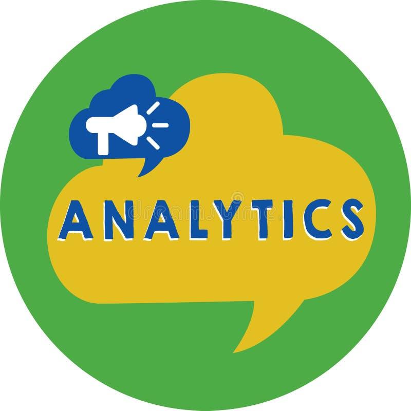 Analítica do texto da escrita da palavra Conceito do negócio para a análise computacional sistemática de estatísticas dos dados o ilustração stock