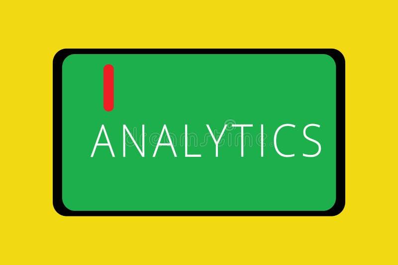 Analítica do texto da escrita da palavra O conceito do negócio para a análise computacional sistemática de estatísticas dos dados ilustração royalty free