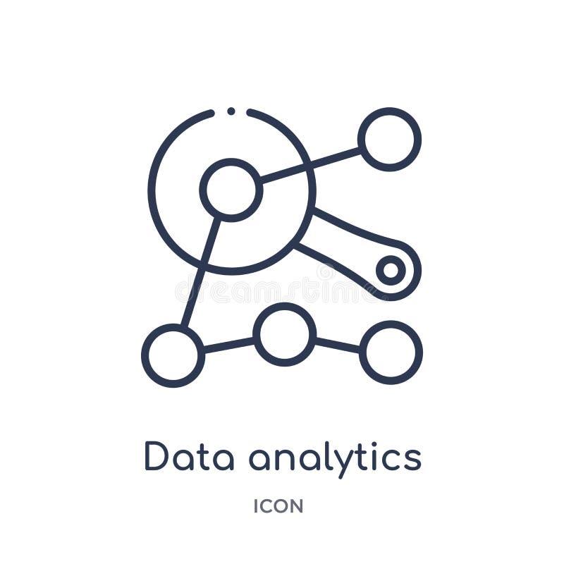 a analítica dos dados conecta o ícone da coleção do esboço da interface de usuário A linha fina analítica dos dados conecta o íco fotos de stock royalty free