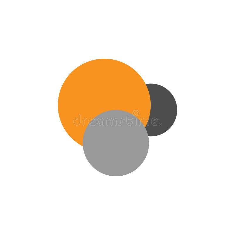 Analítica e ícone dos círculos Elemento de financeiro, de diagramas e de ícone dos relatórios para o conceito móvel e os apps da  ilustração do vetor