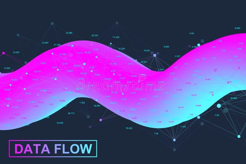 Analítica e inteligência empresarial grandes dos dados Conceito da analítica de Digitas com gráfico e cartas Programação financei ilustração stock