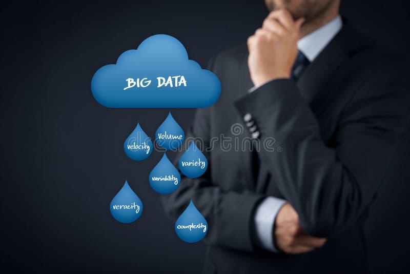 Analítica grande dos dados fotografia de stock