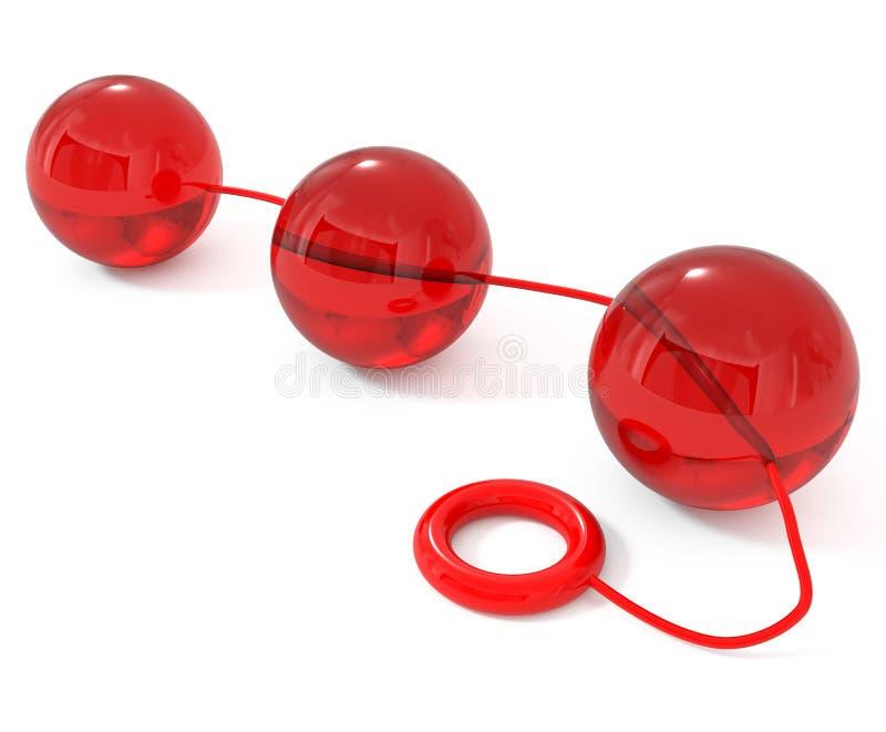 Anales Geschlechts-Spielzeug getrennt auf Weiß stockbild