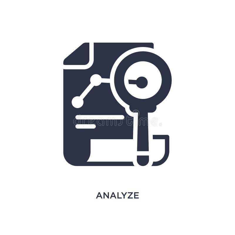 analice el icono en el fondo blanco Ejemplo simple del elemento del concepto del márketing ilustración del vector