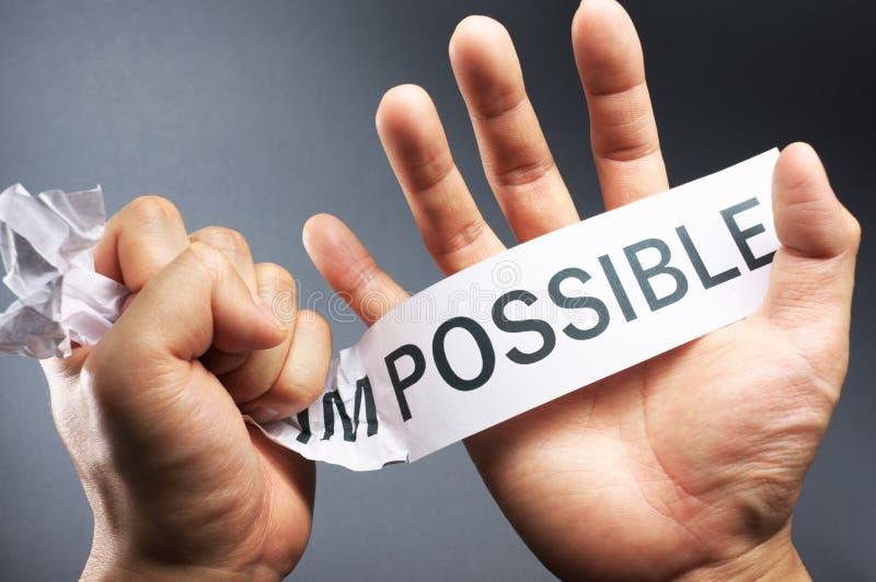 Analice el imposible. fotos de archivo