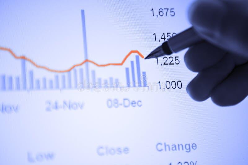 Analice la estadística económica imagen de archivo