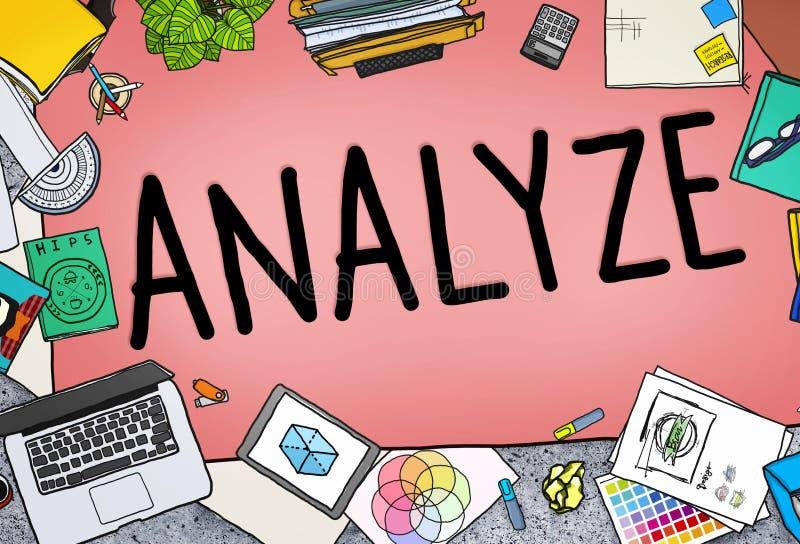 Analice la estrategia del planeamiento del análisis de la consideración de la evaluación concentrada stock de ilustración