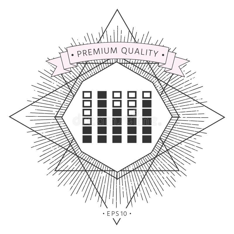 Analisador de espectro, ícone do equalizador ilustração do vetor