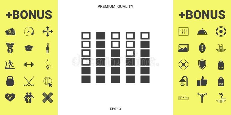 Analisador de espectro, ícone do equalizador ilustração royalty free