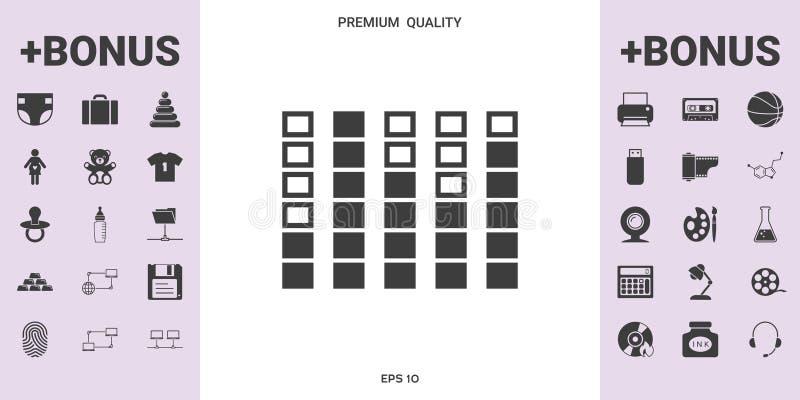 Analisador de espectro, ícone do equalizador - elementos gráficos para seu projeto ilustração stock