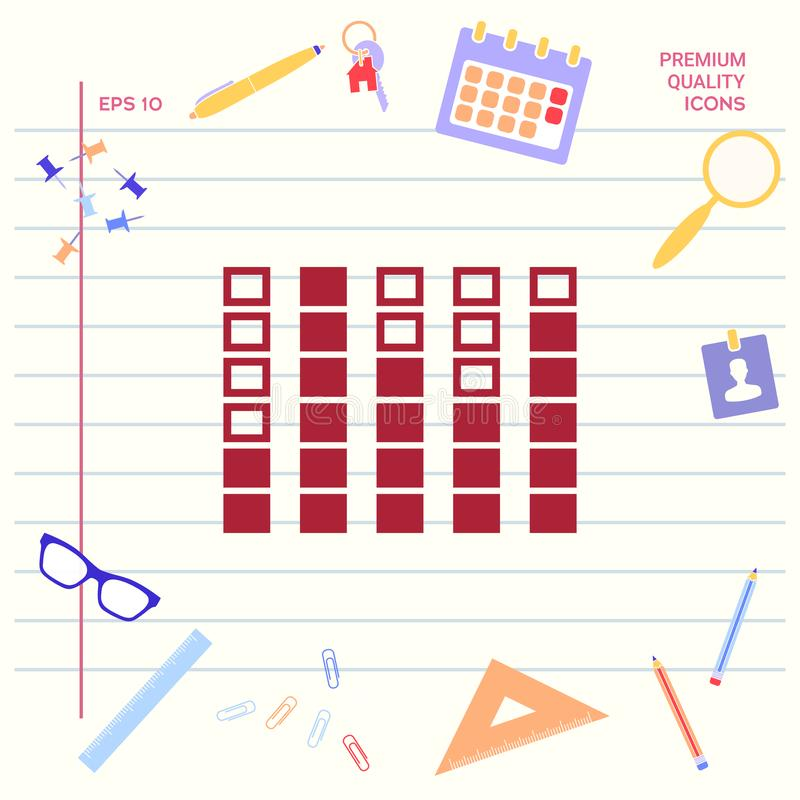 Analisador de espectro, ícone do equalizador Elementos gráficos para seu projeto ilustração stock
